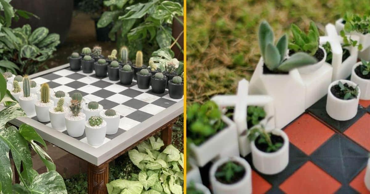 Un jeu d'échec avec des plantes, pour faire Cactus et Mat